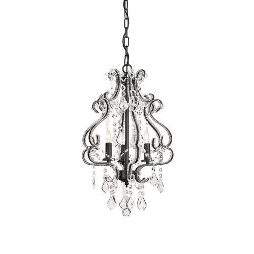 Valentina Three Light Small Chandelier Currey Company Candles Without Shades Chandeliers C