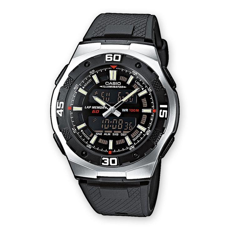 AQ-164W-1AVES Illuminator, 3 multifunctionele alarmen, Snoozefunctie, Automatische kalender, 12/24-uurs tijdweergave, -Tweede tijdzone, Classificatie waterbestendigheid (10 bar), -Roestvrijstalen resin-kast, -Resinarmband, -Bol horlogeglas, -Neo-display, -Rondegeheugen, -Knopgeluiden aan/uit, -Stopwatchfunctie 1/100 sec. - 100 uur, Timer 1/1 min. 24 uur (met automatische herhaling).