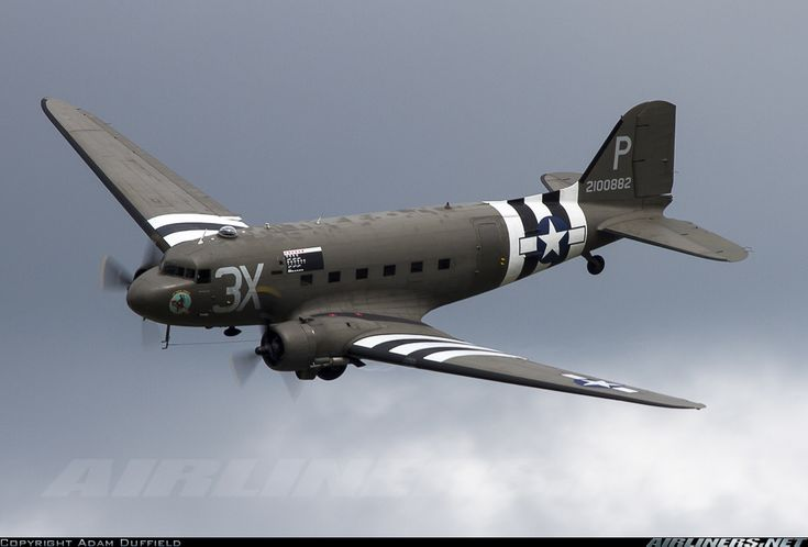 Douglas C-47A Skytrain (DC-3) In D-Day Invasoin Stripes