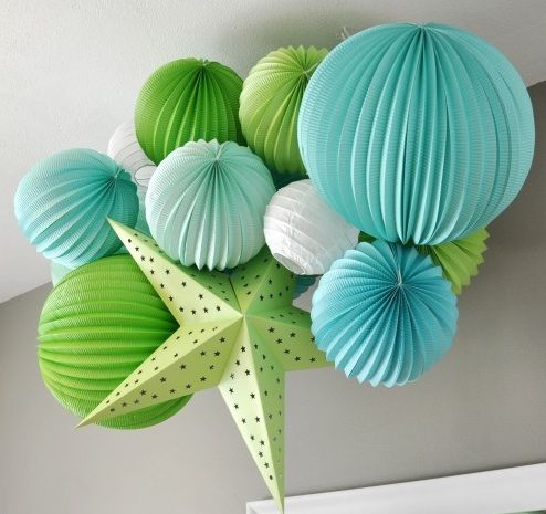 Turquoise and lime !