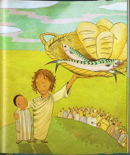 34 best eucharist loaves and fishes images on pinterest for Give a man a fish bible verse