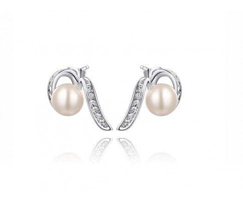 Náušnice ornamentálna perla