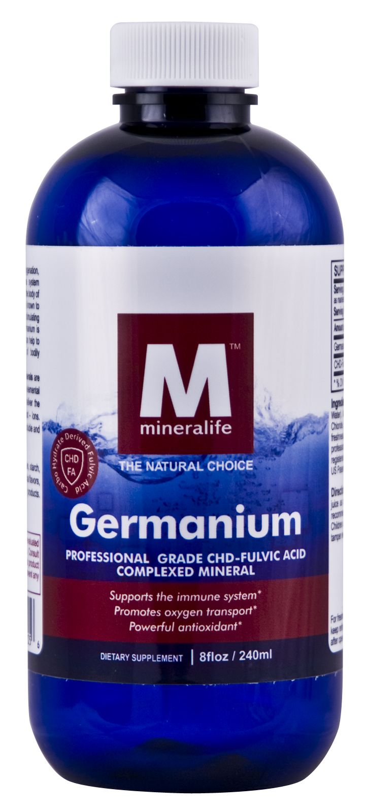 Germanium Helps to Support: Healthy airways and breathing Mental health Healthy cellular replication (of the breast, lung, larynx, and bladder) Liver health Healthy and normal blood pressure Healthy uterus Healthy sinuses Healthy brain tissue Healthy blood glucose levels Cardiovascular health