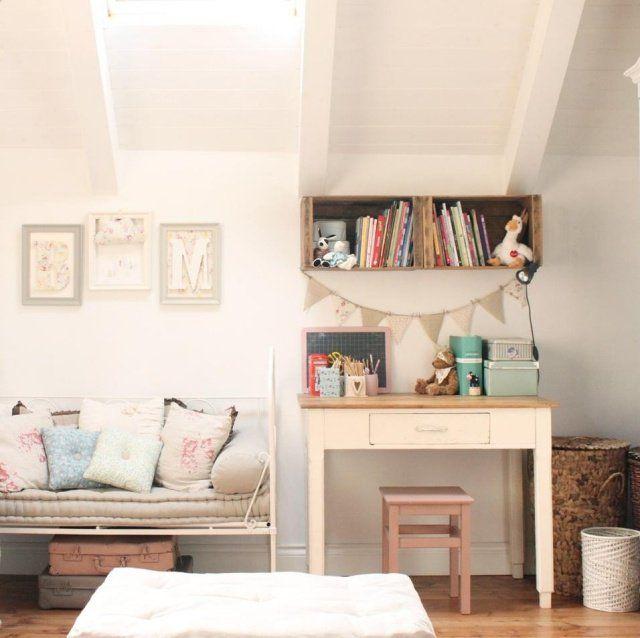 idée de décoration chambre fille esprit vintage