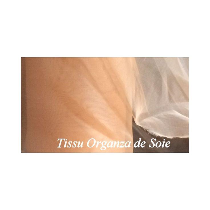 tissu organza de soie au mètre pas cher, soie naturel en organza au mètre.organza de soie pas cher pour étole caftan,foulard,manche de chemisier,nuisette, décor