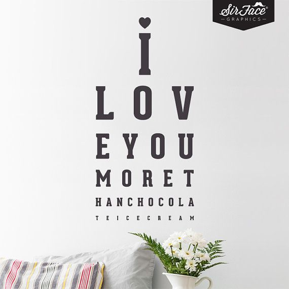 I Love You More Than Chocolate Ice Cream Wall Decal - Retro Wall Decal - Valentine - Wall Graphics - Vinyl Wall Sticker
