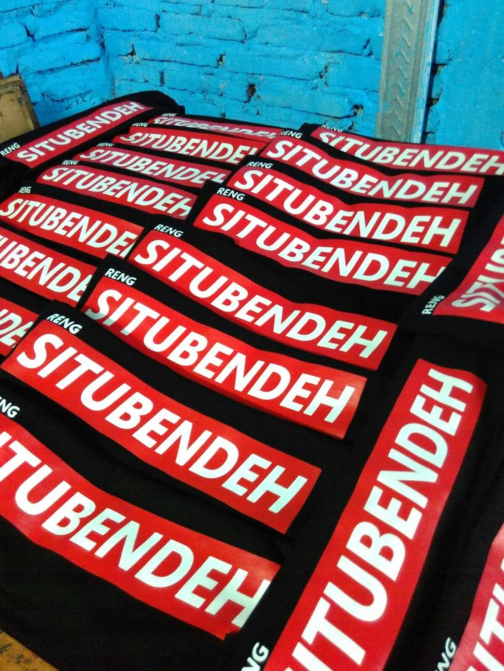 Rubber ink silk printed . More info (+62)8123000126 . Sreen printing studios based in Malang city - indonesia