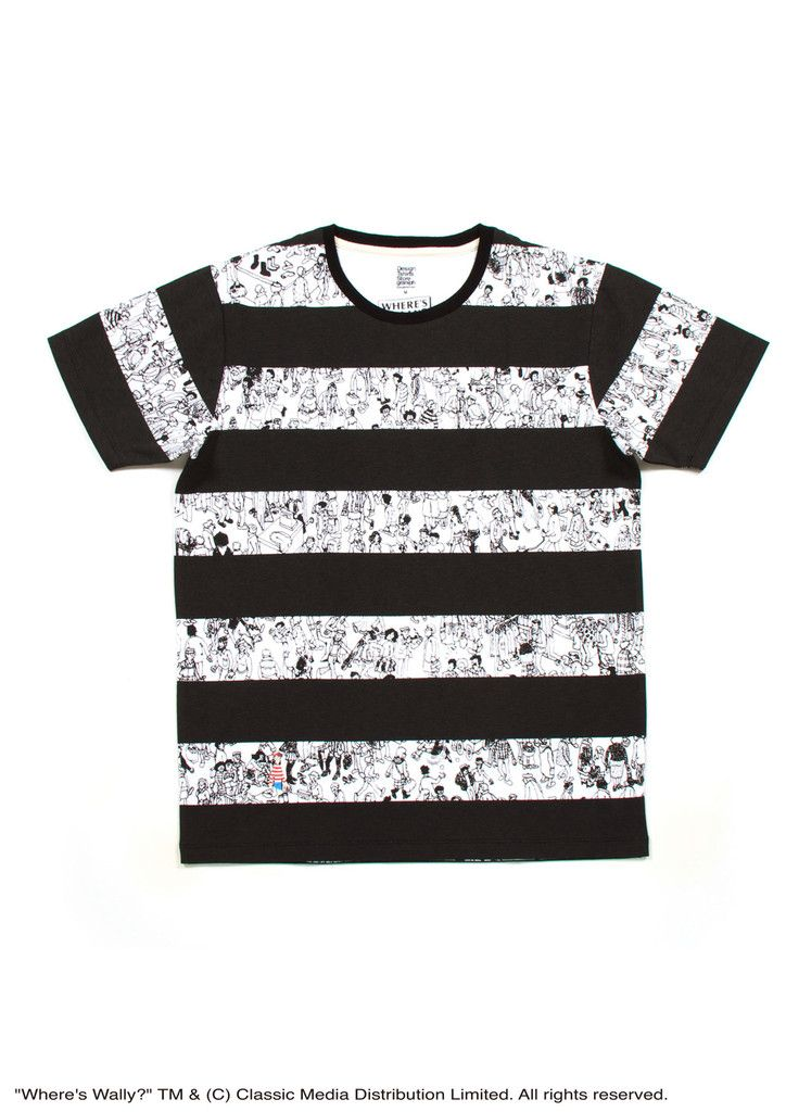 Where's Wally Short Sleeve(Black and White Wally) – Design Tshirts Store graniph