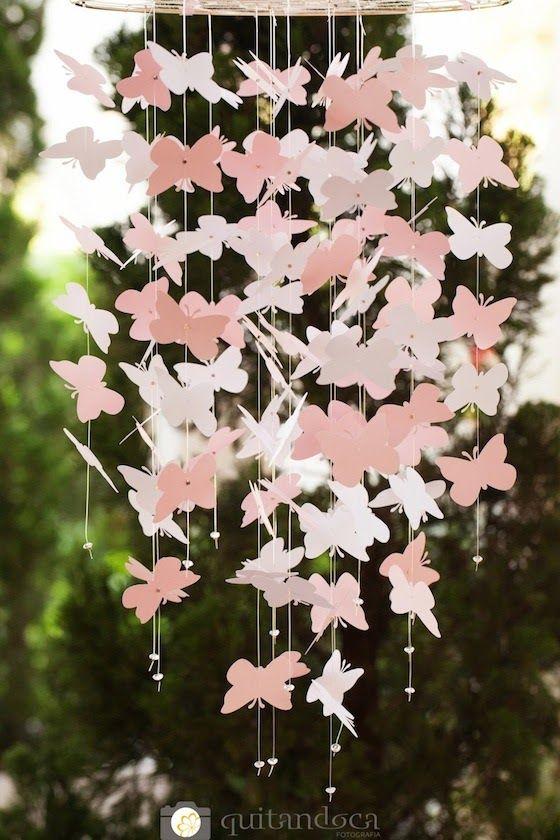 Chá de bebê de menina: um jardim de borboletas