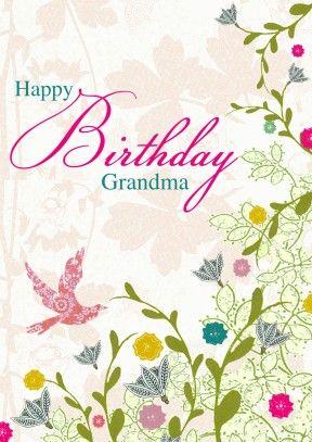 Grandma Birthday Flowers | Personalised Birthday Card Discount code to get 10% off --> SCRTZZGL