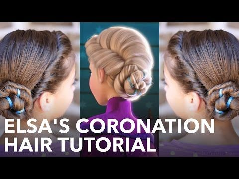 Frozen's Elsa hairstyle tutorial for long hair: UPDO, BRAID hairstyles for long hair - YouTube