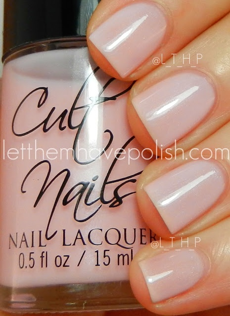 Cult Nails - Enticing  love the light pink, doesn't stand out on my skin tone too well...