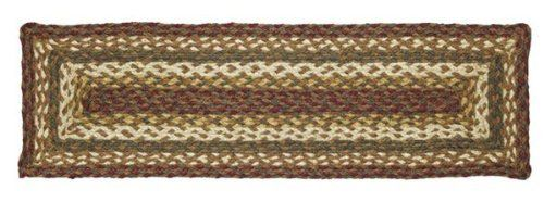 "Tea Cabin Jute Stair Tread Rectanglar 8.5x27"" by Victorian Heart. $11.20. See Product Description below for more details!. High end quality and workmanship!. All cloth items in our collections are 100% preshrunk cotton. All braided items (like rugs, baskets, etc.) are 100% jute. Product measurements and additional details listed in title and/or Product Description below.. Extensive line of matching items and accessories available! (Search by Collection name). 100% Jute"