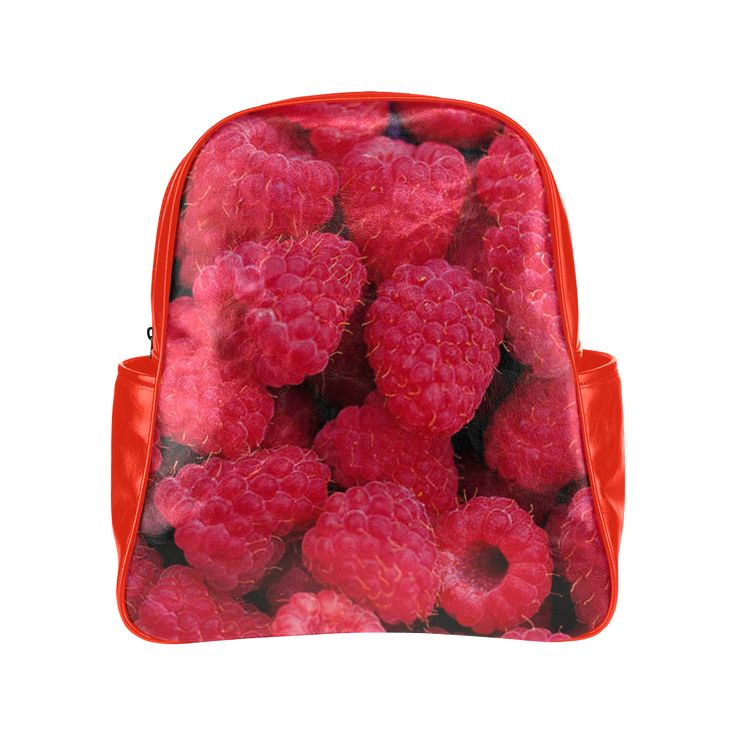 Raspberries Multi-Pockets Backpack. FREE Shipping. #artsadd #lbackpacks #fruits