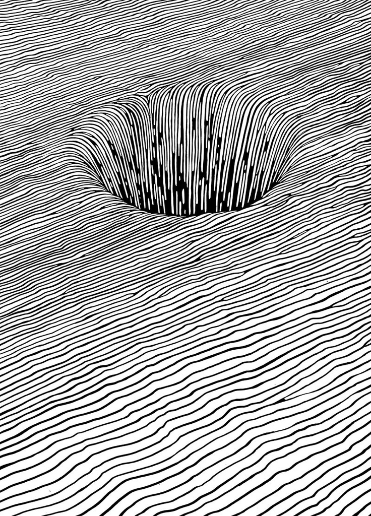 Contour Line Drawing Of Natural Forms : Best illusion drawings images on pinterest optical