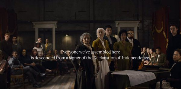 Ancestry.com TV Ad Features Declaration Of Independence Signers' Descendants 06/29/2017