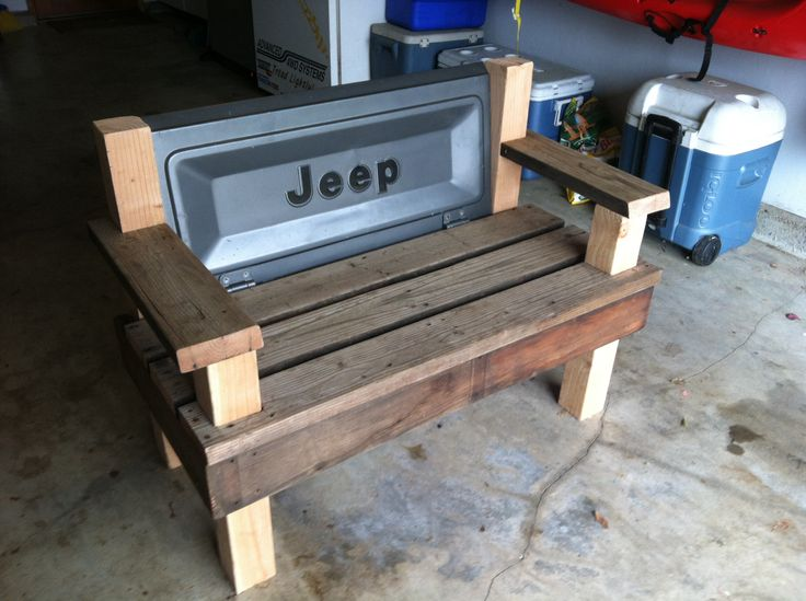Inspired By Pinterest Jeep Cj Tailgate Bench Do It In