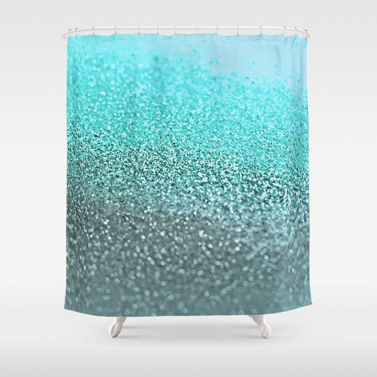 TEAL Shower Curtain by Monika Strigel | Society6