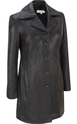 Plus Size Wilsons Leather Lamb 3/4-Length Coat - Wilsons Leather