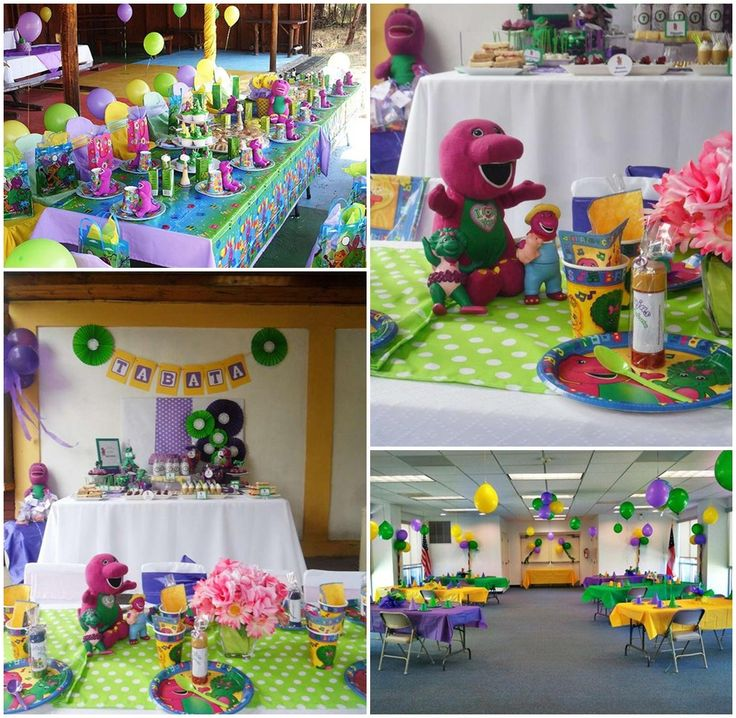 Barney Party Ideas Toddlers