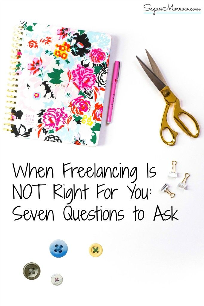 What do you do when you think that perhaps freelancing is NOT right for you, after all? If you're unsure about whether making the leap to start your own business was right for you, ask yourself these 7 questions. Click on the article to determine whether or not you should continue as a freelancer! ~ small business tips ~ home-based small business ~ freelancing tip ~ freelance writing business ~