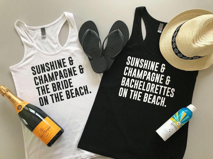 Beach Bachelorette Party Tank Tops - Beach Bride Tank Top - Beach Wedding Tank Tops - Beach Bachelorette Tanks - Beach Bachelorette Shirts by KTeesDesigns on Etsy https://www.etsy.com/listing/292817725/beach-bachelorette-party-tank-tops-beach