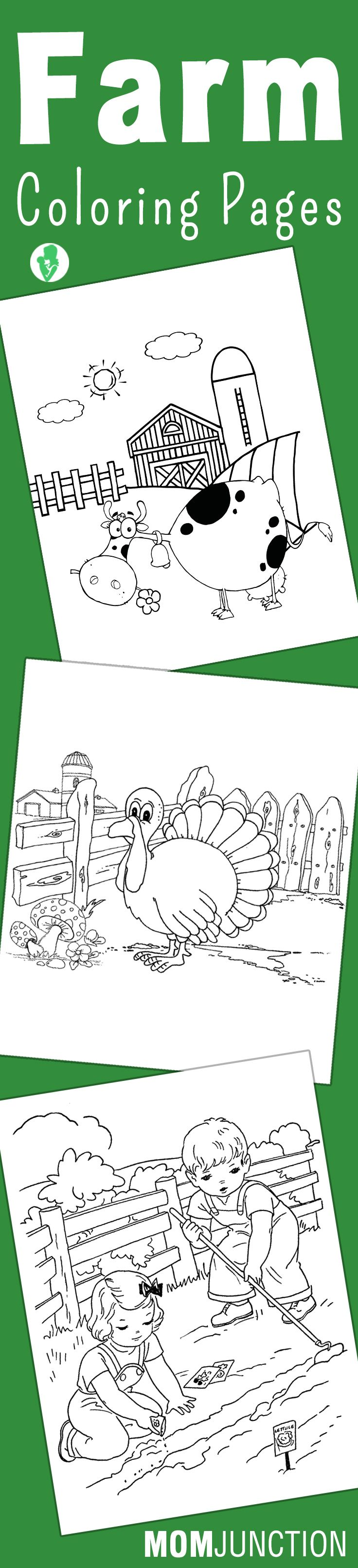 Baby animals coloring pages best coloring pictures pictures to pin on - Top 10 Farm Coloring Pages Your Toddler Will Love To Color