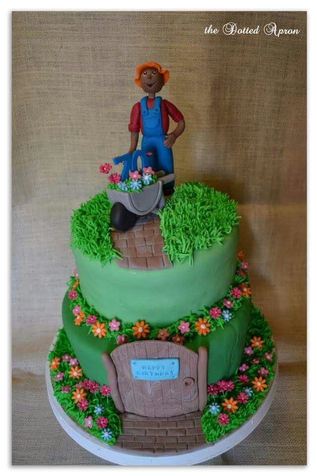 Gardening cake. Made by The Dotted Apron Bloemfontein. https://m.facebook.com/profile.php?id=703914623013978&refsrc=https%3A%2F%2Fwww.facebook.com%2Fpages%2FThe-Dotted-Apron%2F703914623013978