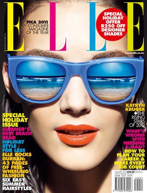 #elle, #magazine, #cover, #sunglasses, #summer, #sea ...