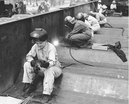 WWII, women keeping out country alive.....and still were moms & wives!  Would this generation be able to handle that?