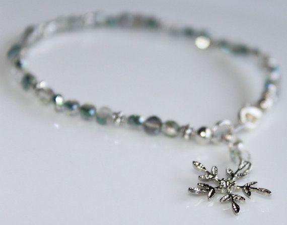 Green Crystal Jewelry BraceletBohemian by myVardo on Etsy