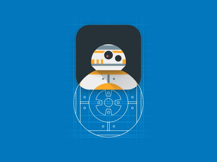 bb8 ios app icon concept by Bence Bogar