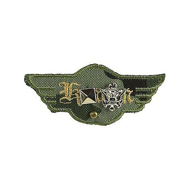 BKE Camo Wings Pin (£0.65) ❤ liked on Polyvore featuring jewelry, brooches, camo, bke jewelry, pin brooch, camouflage jewelry, pin jewelry and camo jewelry
