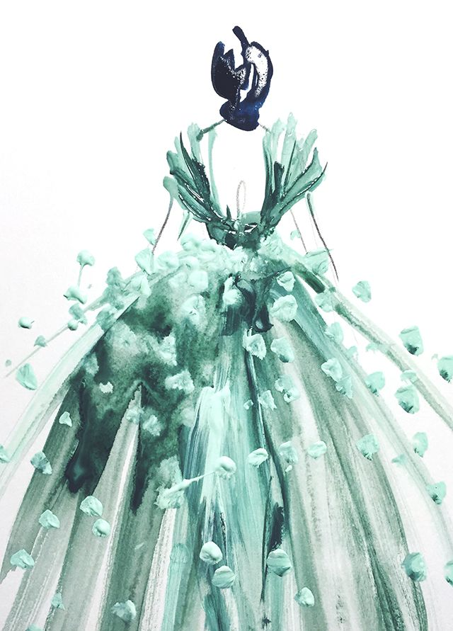 Time Challenge: created in 5 minutes, Ladies in shades of winter mint, Katie Rodgers/Paper Fashion