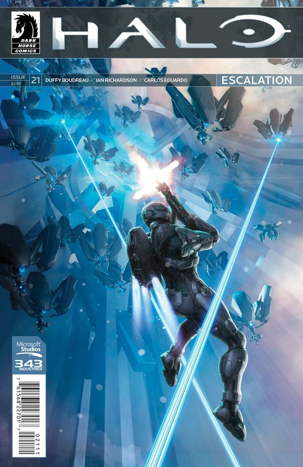 Preview: Halo: Escalation #21,   Halo: Escalation #21  Story: Duffy Boudreau Art: Ian Richardson, Denis Freitas Cover: Isaac Hannaford Publisher: Dark Horse Publication Date...,  #All-Comic #All-ComicPreviews #Comics #DarkHorse #DenisFreitas #DuffyBoudreau #Halo:Escalation #IanRichardson #IsaacHannaford #Previews