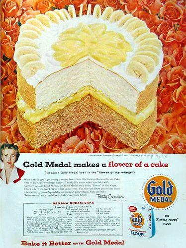 Gold Medal Banana Cream Cake