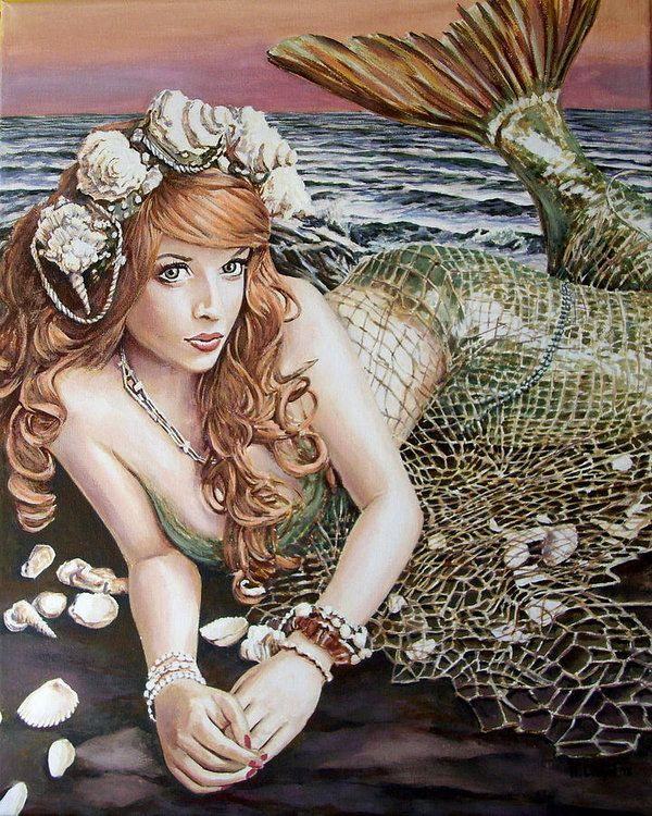 Turn Loose The Mermaid Art Print By Andy Lloyd In 2021 Mermaid Painting Mermaid Pictures Beautiful Mermaids