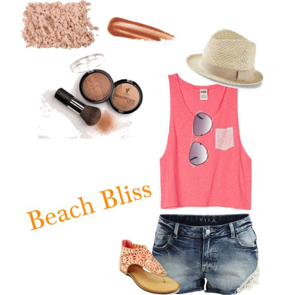 Beach Bliss by shelby-wyatt on Polyvore featuring polyvore, beauty, BCBGMAXAZRIA, Express, VILA and mi.im