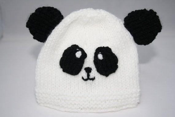 Premature baby hat newborn hat panda beanie hat by sweetygreetings, £3.80
