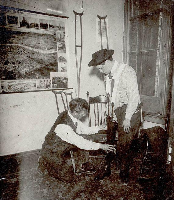 vintage photo RARE Medical Man Doctor Fake Leg by maclancy on Etsy