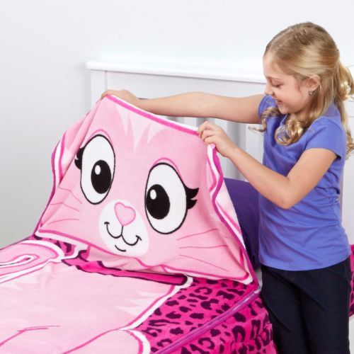 Zippy Sack Kitty Cat Twin Snuggie Fitted Comforter Blanket