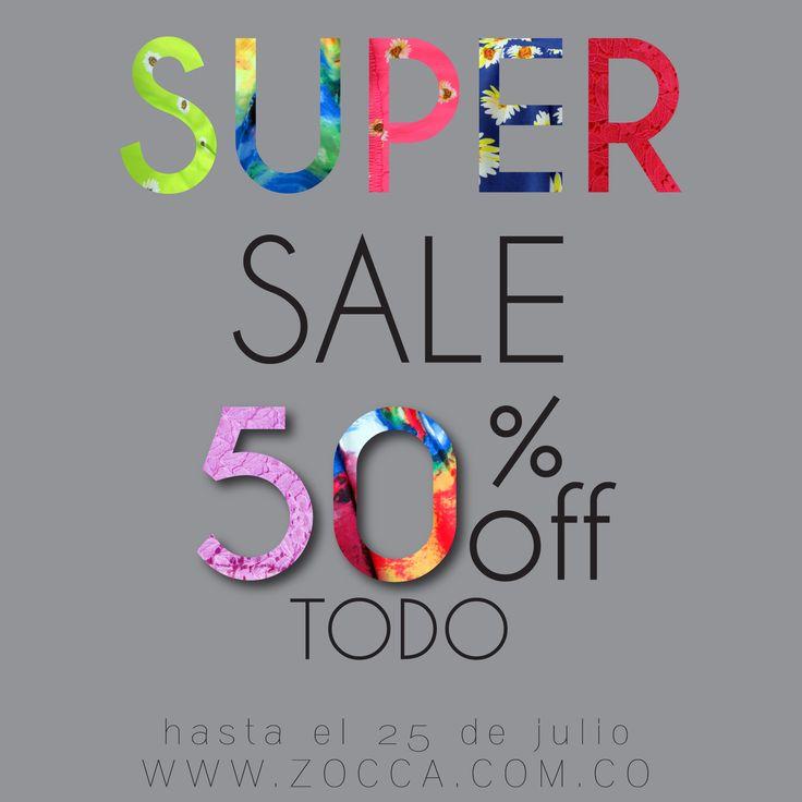 TODO 50%Off en @Zoccastore  Valido hasta el 25 de Julio de 2014 SHOP ZOCCA ONLINE