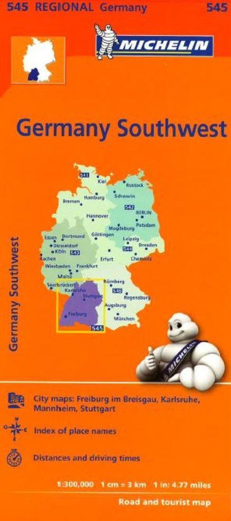 Buy map: Germany, Southwest (545) by Michelin Maps and Guides – YellowMaps Map Store