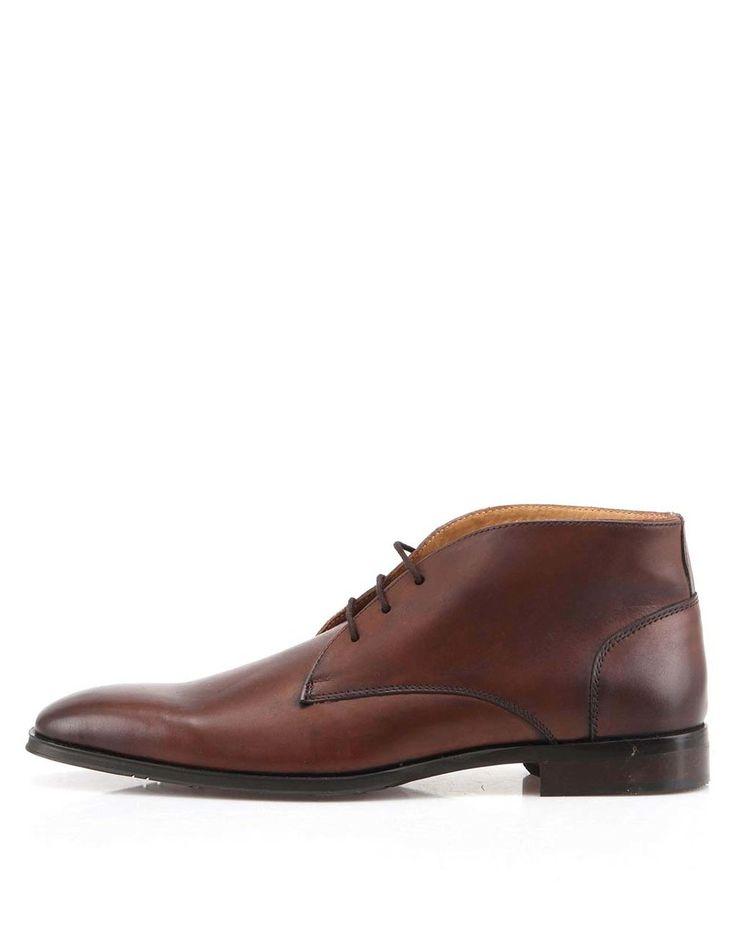 Dice - Hnědé kožené kotníkové boty  Know - 1