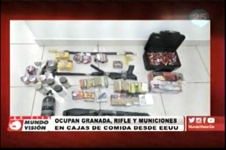 Ocupan Granada, Rifle y Municiones en Cajas De Comidas desde EE.UU