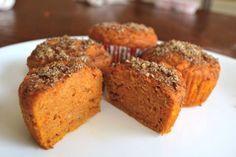 Recette santé de muffins de patates douces et graines de lins!