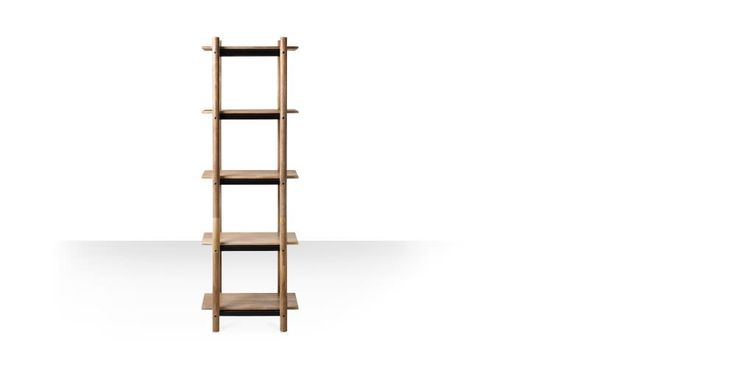 Swoon Editions Bookcase, contemporary-style in mango wood and black - £279