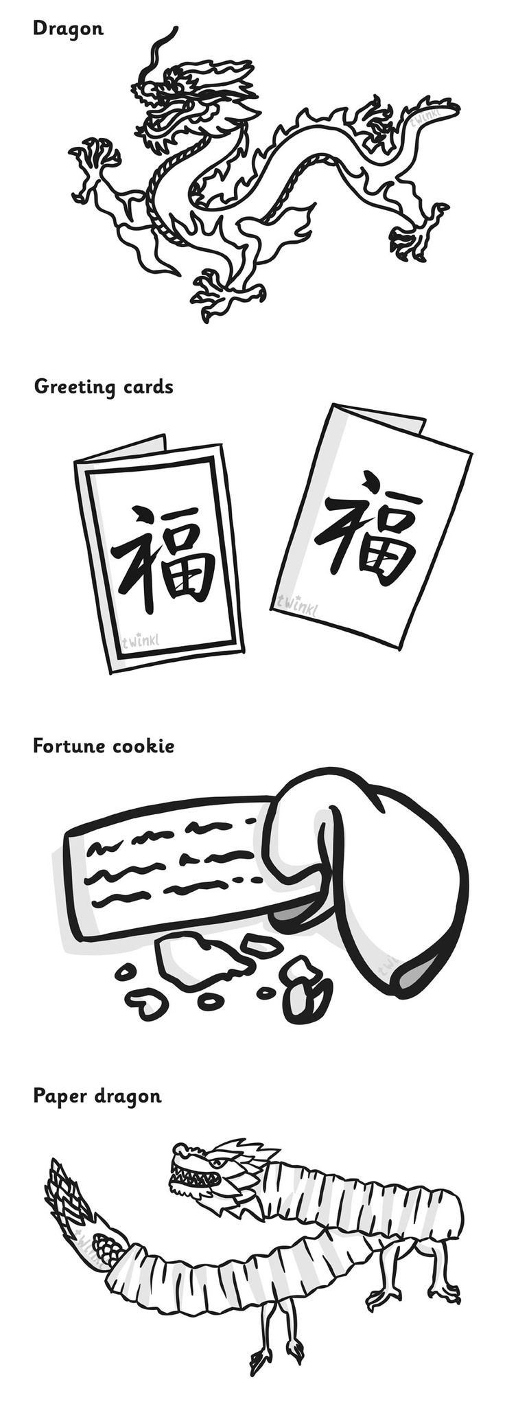 chinese new year colouring sheets pop over to our site at wwwtwinkl - Colouring Papers