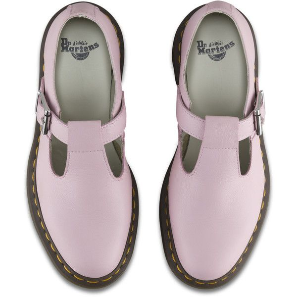 Dr. Martens Polley Mary Jane ($115) ❤ liked on Polyvore featuring shoes, t-bar shoes and t strap shoes