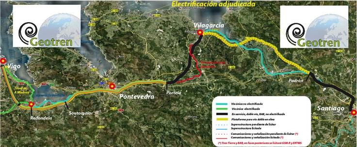 Estado de Eje Atlántico de Alta Velocidad: Vigo-Santiago
